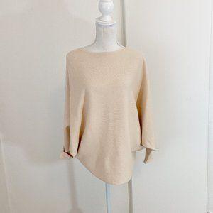 Kerisma Cream Ribbed Loose Fit Boat Neck Sweater